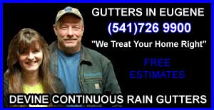 Devine Gutters, Custom Gutters and Gutter Repair in Eugene Oregon by Kevin Devine 541 726 9900