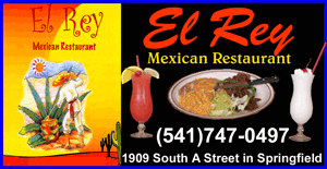 El Rey Mexican Restaurant in Springfield Oregon. (541)747-0497 Mexican Food, Dine in or take out