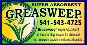 For Gas and Oil Spills-GREASE SWEEP SUPER ABSORBANT (541)543-4725 IMMEDIATE CHEMICAL AND PETROLIUM BASED SPILL CLEANUP