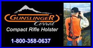 Gunslinger Corral, World's First Compact Rifle and Shotgun Holster 100% Hands Free, Made in Oregon visit GunslingerCorral.com to buy