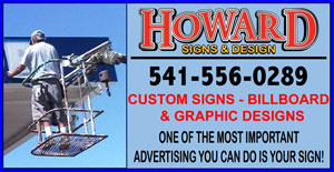 HOWARD SIGNS & DESIGN IN EUGENE OREGON (541)556-0289 CUSTOM SIGNS, GRAPHIC DESIGN. WE MAKE, DESIGN AND INSTALL CUSTOM BUSINESS SIGNS IN EUGENE OREGON