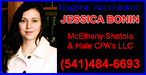 JESSICA BONIN CPA EUGENE ACCOUNTANT BOOKKEEPING AND PAYROLL (541)484-6693 MCELHANY SHOTOLA AND HALE - JESSICA BONIN CPAS LLC