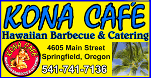 KONA CAFE Hawaiian Barbeque and Catering in Springfield Oregon 4605 Main Street (541)741-7136