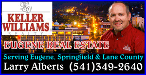 LARRY ALBERTS KELLER WILLIAMS REAL ESTATE IN EUGENE OREGON - Eugene Commercial Real Estate Professional, Commercial Property Sales and Evaluations.  Commercial Real Estate in Eugene Oregon.