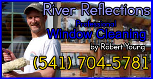 River reflections Window Cleaning Service in Eugene Oregon by Robert Young 541 704 5781 free estimates!