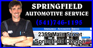SPRINGFIELD AUTOMOTIVE SERVICE AND REPAIRS in Springfield Oregon (541)746-1195 FREE ESTIMATES! WE REPAIR RV'S, 30k, 60k and 90k mileage maintenance. Transmission Repair and Service, Drivetrain, Brakes, Air conditioning, Full Service car repair